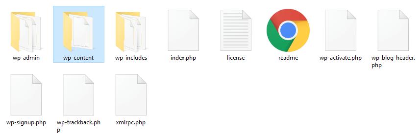 wp-content klasörü